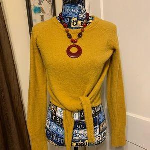 Ardene Mustard Cropped Sweater